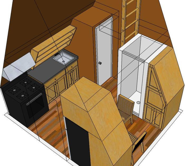 Tiny eco house plans by keith yost designs for Small a frame home plans